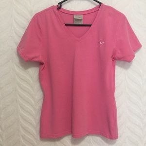 Nike T-Shirt Pink Cotton Size Large